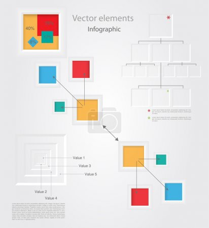 Illustration for Infographic elements, vector design - Royalty Free Image