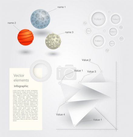 infografische Elemente, Vektordesign