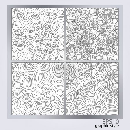 Illustration for Vector set of abstract backgrounds. - Royalty Free Image