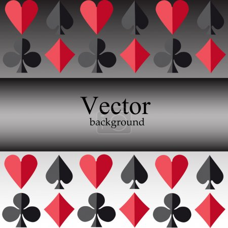 Vector background with card suits