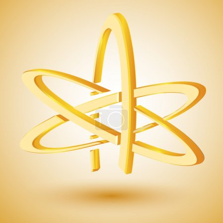 Photo for Golden symbol of atheism. Vector illustration - Royalty Free Image