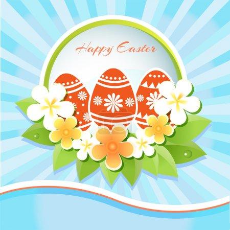 Joyeux Pâques Carte - Illustration vectorielle