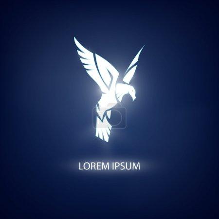 Photo pour Symbole aigle sur fond bleu pour mascotte ou emblème - image libre de droit