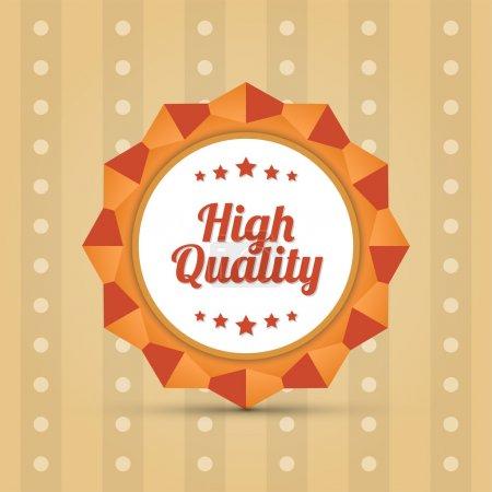 Illustration pour Badge de haute qualité, design vectoriel - image libre de droit