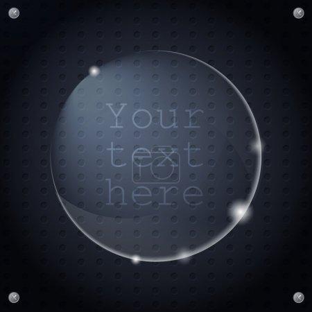 Illustration pour Illustration vectorielle d'un bouton en verre. - image libre de droit