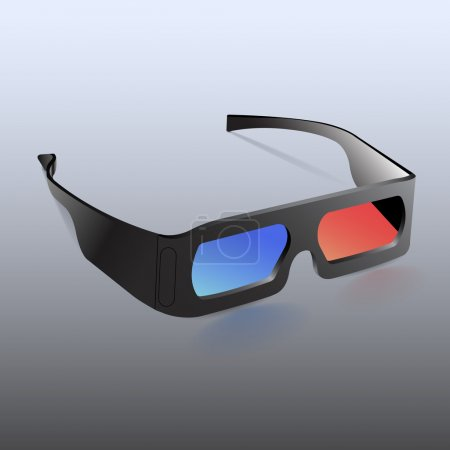 Illustration for Vector illustration of 3d glasses isolated - Royalty Free Image