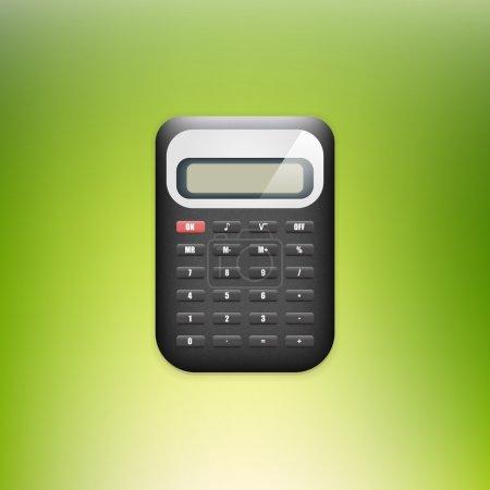 Vector calculator on green background