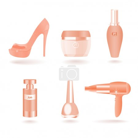 Women Female Cosmetic and Beauty Things