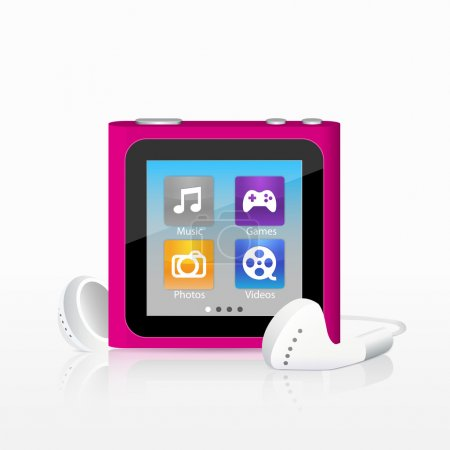 Vector illustration of mp3 player
