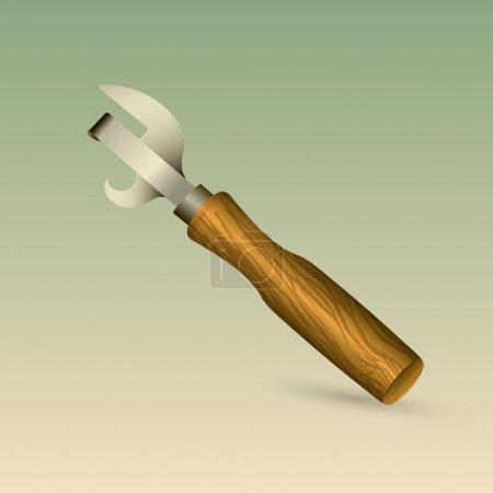 Illustration for Beverage bottle opener. Vector illustration - Royalty Free Image
