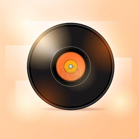 Vector illustration of vinyl disc