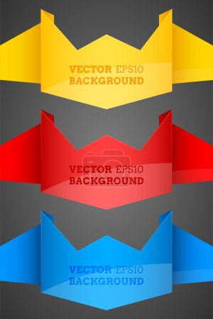 Illustration for Abstract vector origami backgrounds - Royalty Free Image