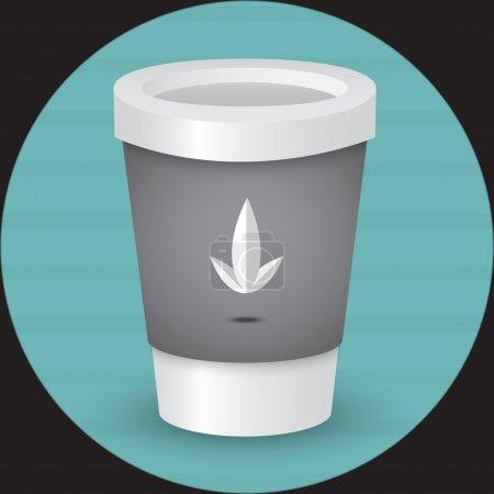 Illustration pour Une illustration vectorielle tasse de café - image libre de droit