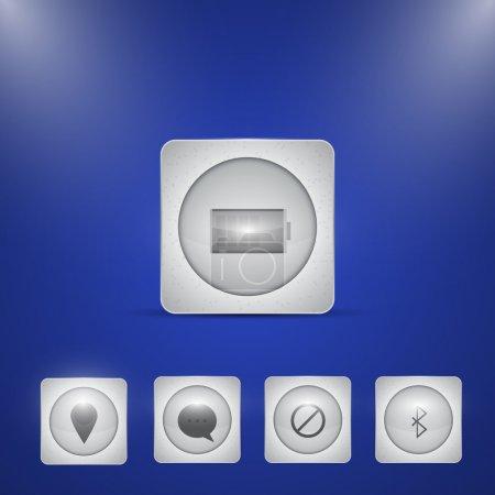 Illustration pour Icônes liées à l'ordinateur, conception vectorielle - image libre de droit