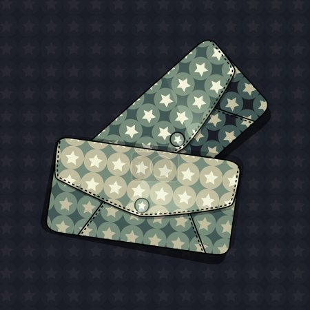 Illustration pour Illustration vectorielle d'un sac féminin . - image libre de droit