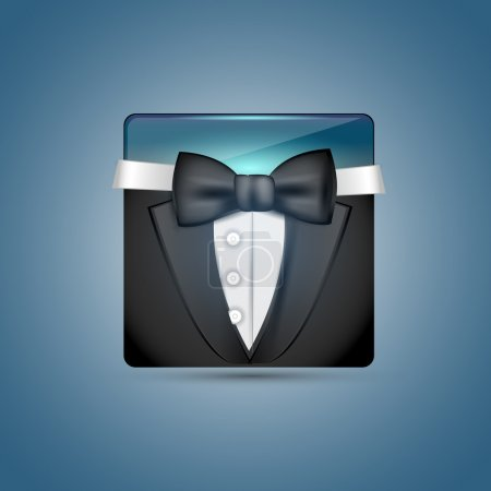 Illustration for Vector business suit on the blue background - Royalty Free Image