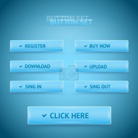 Illustration pour Boutons web vectoriels premium . - image libre de droit