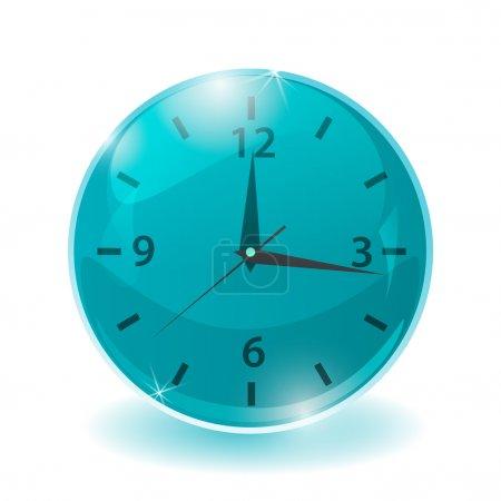 Illustration for Vector design of clock illustration - Royalty Free Image