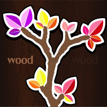 Illustration for Vector illustration of spring tree. - Royalty Free Image