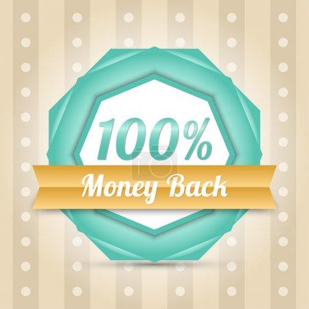 Illustration for Vector money back label - Royalty Free Image