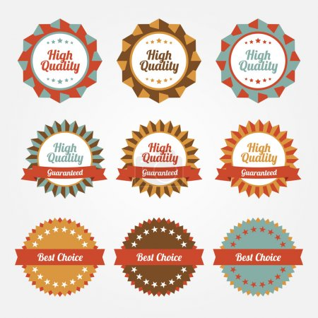 Illustration for Set of vector stickers, badges, labels - Royalty Free Image