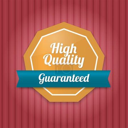 Illustration pour Badge de haute qualité - garanti - image libre de droit