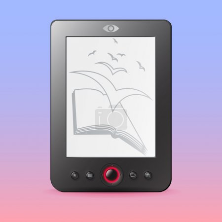 Vector e-reader illustration