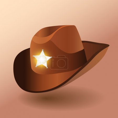 Sheriff's leather hat. Vector illustration
