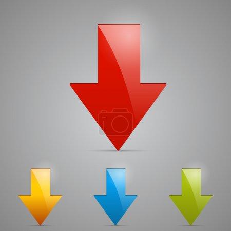 vector design of arrows.