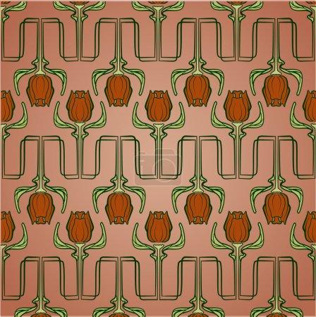 Illustration pour Floral papier peint vecteur sans couture - image libre de droit