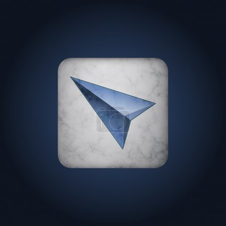 Illustration for Vector blue cursor icon - Royalty Free Image