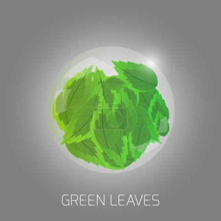 Illustration pour Illustration des feuilles vertes - image libre de droit