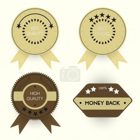 Set of stylish quality badges