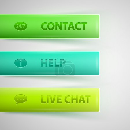 Live Help Signs (Customer support symbols for web)