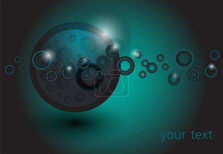 Illustration pour Illustration vectorielle de fond abstrait espace - image libre de droit