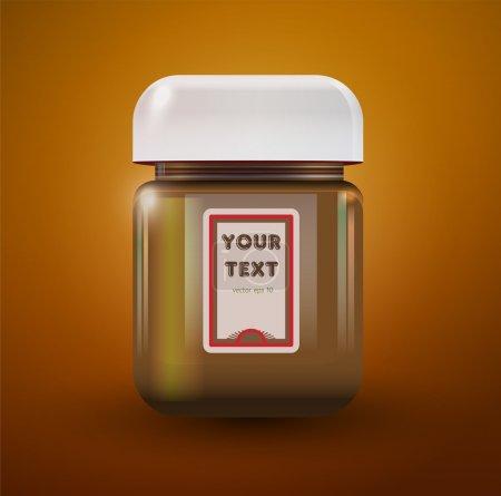 Ilustración de un frasco de mantequilla de maní