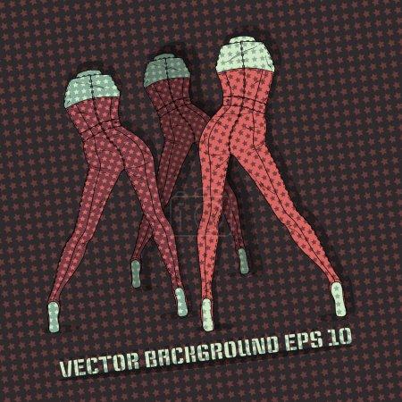 Illustration pour Fond vectoriel avec jambes féminines . - image libre de droit
