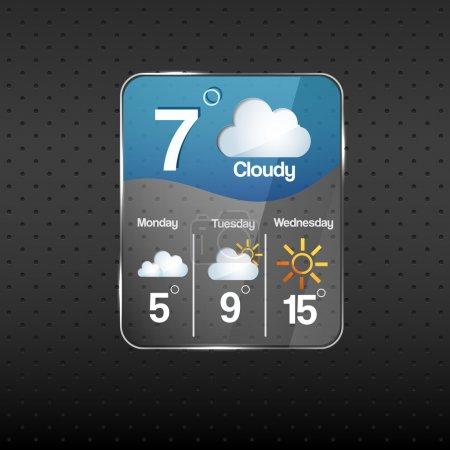 Illustration pour Icône météo nuageuse. Illustration vectorielle . - image libre de droit