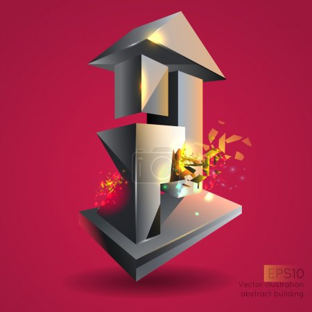 Vector illustration of abstract building.