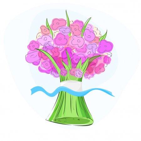 Illustration pour Bouquet. Illustration vectorielle. illustration vectorielle - image libre de droit