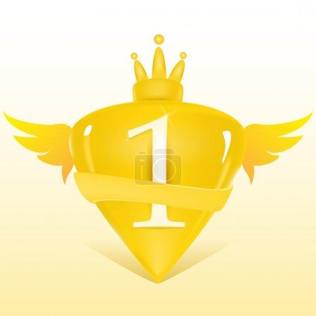 1st place crest. Vector