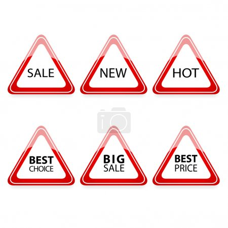 Illustration for The triangle traffic sign for sale. - Royalty Free Image