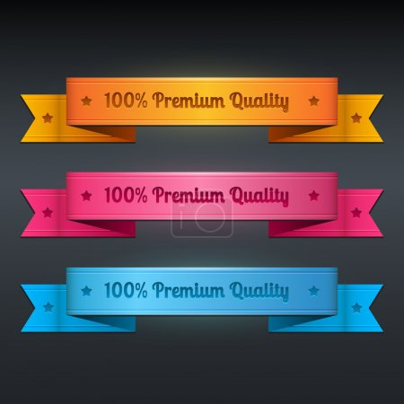 Illustration for Vector ribbons collection of premium quality - Royalty Free Image
