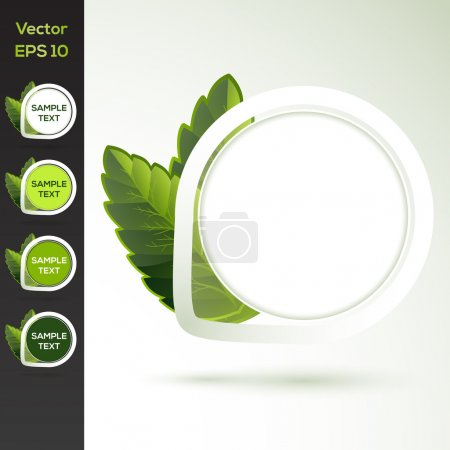 Photo for Set of vector round floral banners - Royalty Free Image