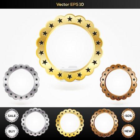 Illustration for Set of vector sale labels - Royalty Free Image