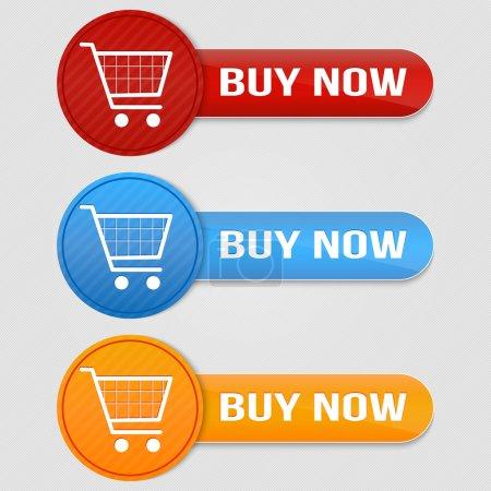 Photo pour Vecteur panier article - acheter des boutons - image libre de droit