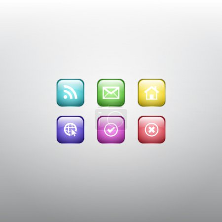 Colorful Vector Web Icons