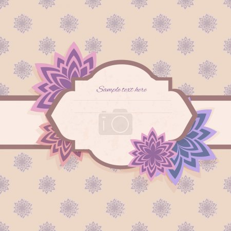Vector floral background with frame