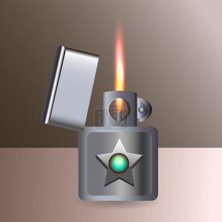 Illustration pour Un briquet brûlant. Vecteur . - image libre de droit
