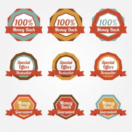 Conjunto de pegatinas de venta de vectores, insignias, etiquetas